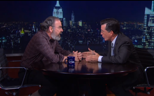 Mandy Patinkin on the Colbert Report (Colbert Report screenshot)