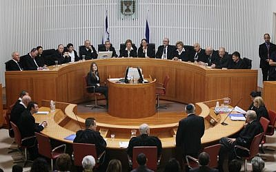 The Supreme Court in session. (Yossi Zamir/Flash90)
