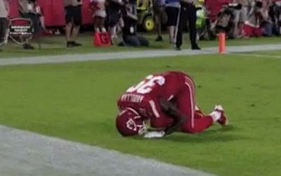 Husain Abdullah was penalized for unsportsmanlike conduct following this touchdown celebration (Photo: YouTube screenshot)