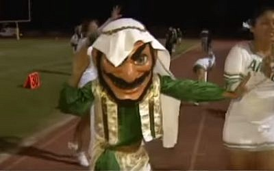 The Coachella Valley High School Arab mascot before its make-over. (YouTube screenshot)