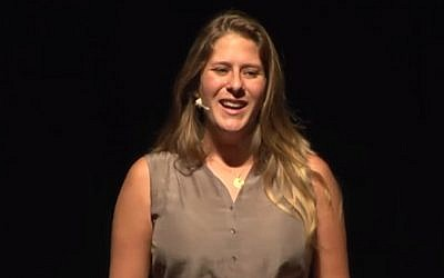 Adi Altschuler giving a TED talk. (photo credit: YouTube screenshot/TEDx)