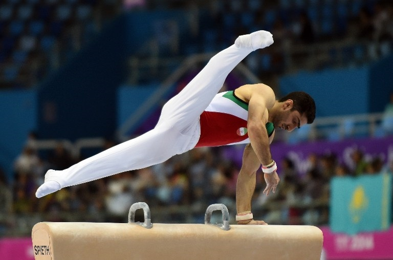 Saeed Raza Keikha Of Iran Competes In The Artistic Gymnastics Mens Pommel Horse Individual Qualifications And
