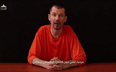 UK journalist John Cantlie speaks in an IS video released Thursday, September 18, 2014. (screen capture: YouTube)