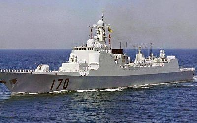 Illustrative photo of a Chinese Luyang II Class Destroyer. (Photo credit: Wikimedia/public domain)