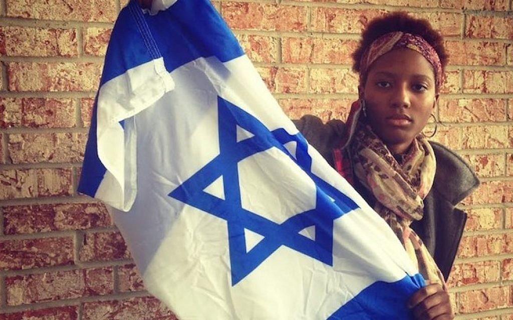 "Chloe Valdary called her AIPAC-sponsored trip to Israel ""life changing."" (photo credit: Lauren Clarice Cross/JTA)"