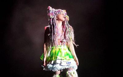 Lady Gaga in Tel Aviv, Sept. 13, 2014 (photo credit: Debra Kamin/Times of Israel)