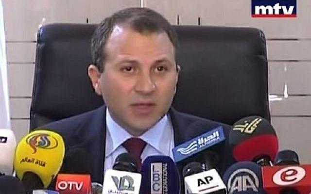 Lebanese Foreign Minister Gebran Bassil. (Youtube screenshot)
