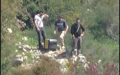 Hezbollah operatives spotted near the northern border with Israel (photo credit: Courtesy/IDF)