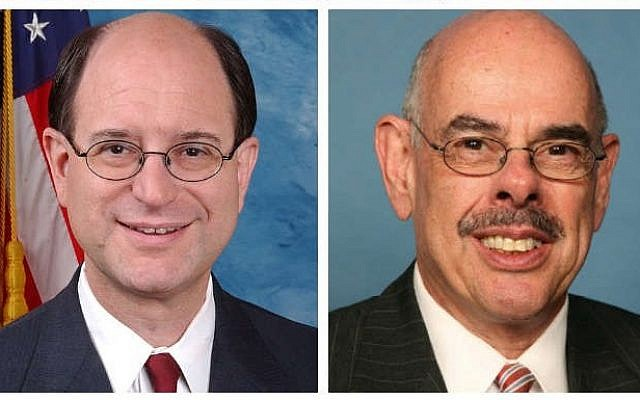 Jewish lawmakers Brad Sherman (L), and Henry Waxman (R)  (photo credit: House.gov)