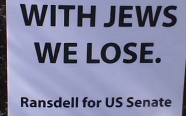 Screenshot from a YouTube video from the Robert Ransdell For United States Senate Campaign Kentucky.