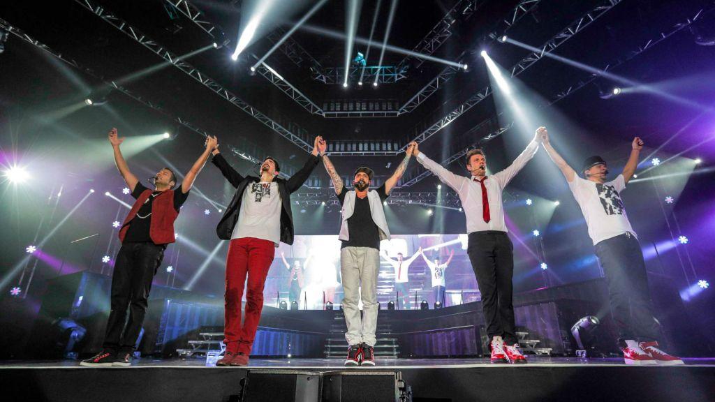 The Backstreet Boys in Israel, 2014 (Courtesy Backstreet Boys)