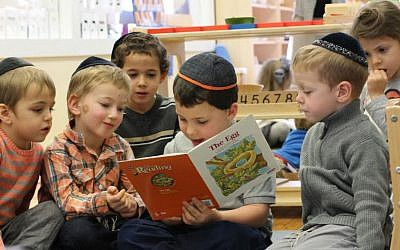 At NY's Chabad program Lamplighters, Montesori tools are an integral part of the classroom but modified for a strictly Orthodox Jewish environment. (courtesy)