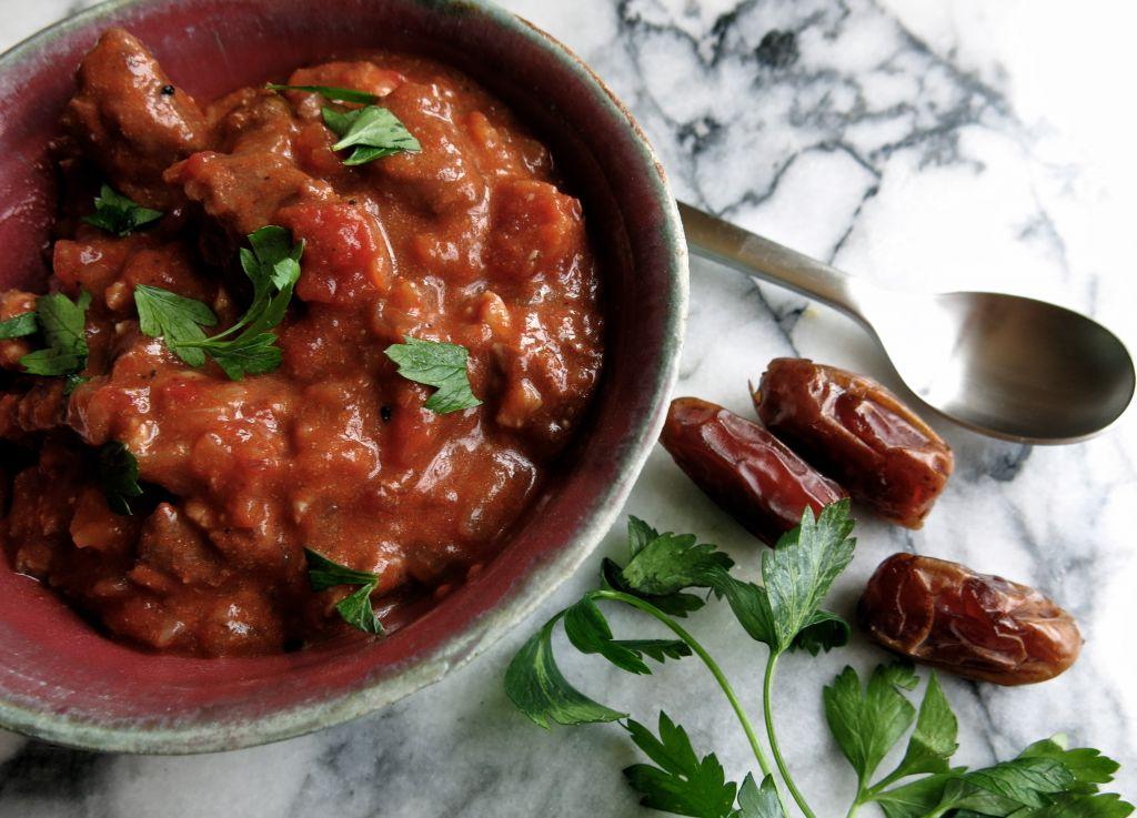 Lamb Stew with Dates (Leah Koenig/JTA)