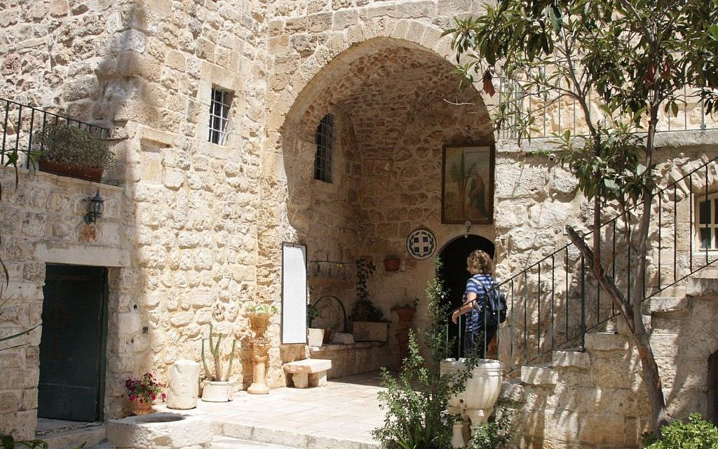 The entrance to the church at the monastery (photo credit: Shmuel Bar-Am)