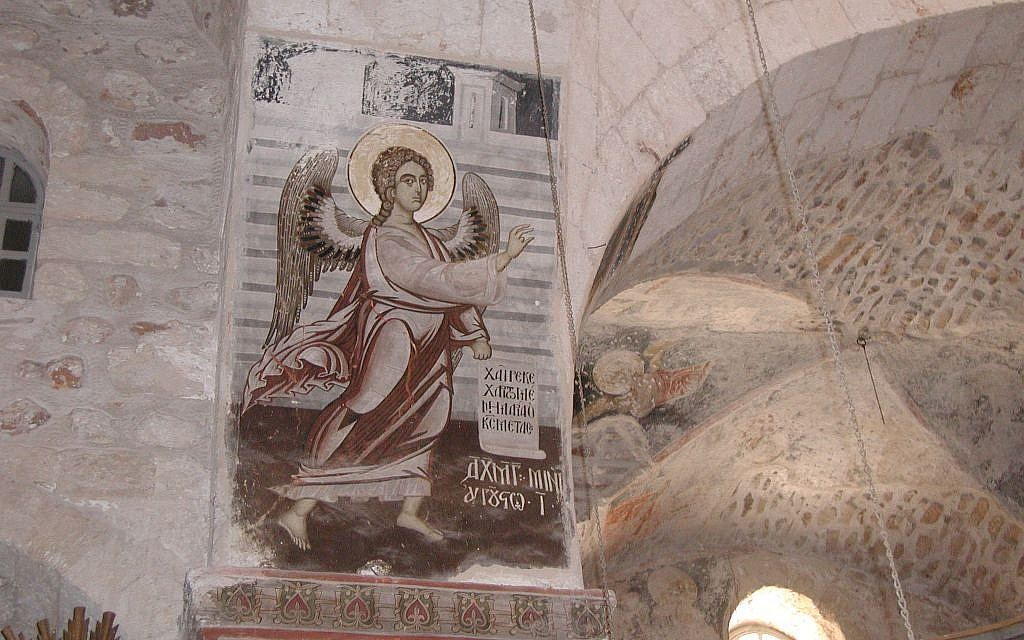 14th Century fresco at the Monastery of the Cross (photo credit: Shmuel Bar-Am)