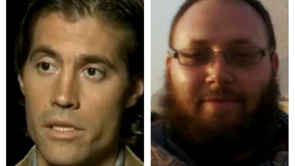 Slain US journalists James Foley, left, and Steven Sotloff, right. Both were executed by the Islamic State jihadist group two weeks apart in late August and September 2014.