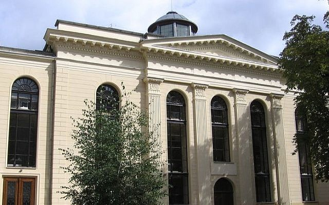 The White Stork Synagogue in Wrocław, Poland. (Photo credit: Wikimedia)