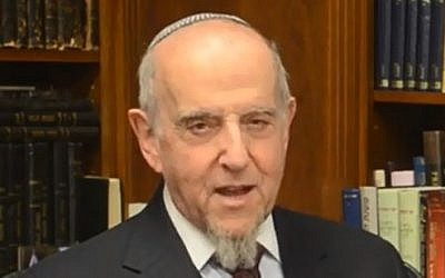 Rabbi Haskel Lookstein (screen capture: YouTube/CelebrateIsrael)