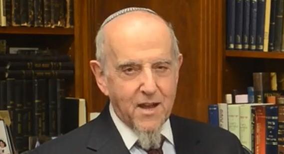 Rabbi Haskel Lookstein (screen capture: YouTube/CelebrateIsrael)