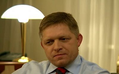 Slovak Prime Minister Robert Fico (photo credit: Youtube screenshot)