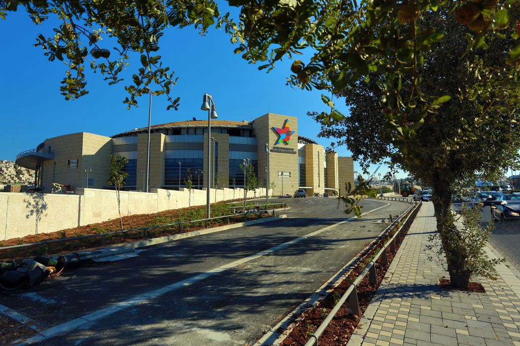 The new Arena is next to the Malcha train station and the Park HaMesila train track route (photo credit: Sasson Tiram)