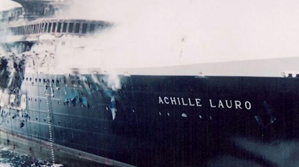Italian cruise ship Achille Lauro was hijacked in 1985 by Palestinian terrorists who murdered of Jewish passenger Leon Klinghoffer. (YouTube screenshot)