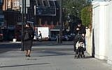 Ultra-Orthodox Jews in the Stamford Hill neighborhood of London (screen capture: YouTube/Mick Byrne)