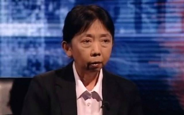 Dr. Swee Ang in an interview with British television. (photo credit: YouTube screen capture)