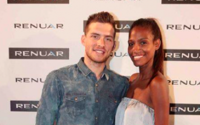 Gal Mekel and his longtime girlfriend, Danyelle Sims, at a Renuar event (Courtesy Renuar)