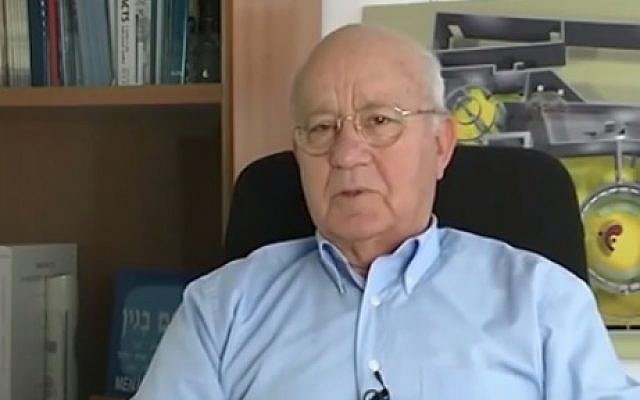Former Mossad director Yitzhak Hofi (photo credit: Youtube screenshot)