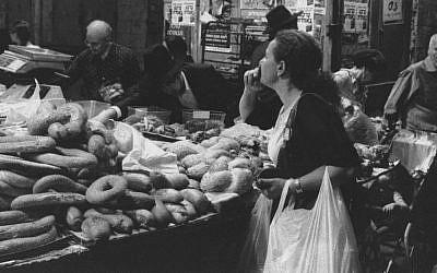 'Woman in Mahane Yehuda Market' (photo credit: Paul Margolis)