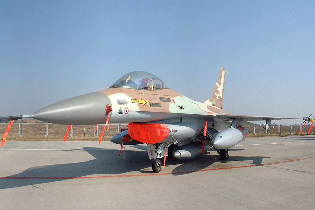 The Israeli Air Force F-16A Netz 243 flown by Colonel Ilan Ramon in the Operation Opera bombing of Saddam Hussein's nuclear reactor at Osiraq in 1981 (KGyST/Wikipedia)
