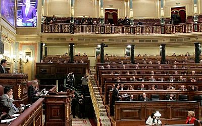 The Congress of Deputies of Spain in session. (public domain, Wikimedia Commons)