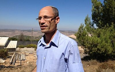 Gush Etzion Regional Council head Davidi Perl, October 6, 2014 (photo credit: Elhanan Miller/Times of Israel)