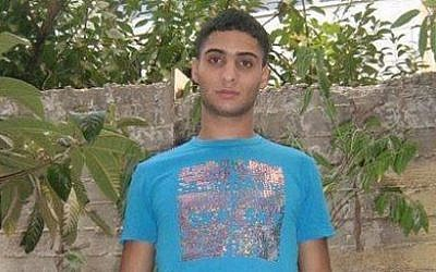 Abdelrahman al-Shaludi, who killed two and injured seven others after he rammed his vehicle into pedestrians at a Jerusalem Light Rail station, October 23, 2014. (photo credit: Channel 2)