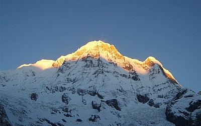 Illustrative photo of the Annapurna South, Nepal (photo credit: Wikimedia Commons/CC BY-SA 3.0)