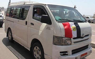 Illustrative photo of a minibus in Egypt (photo credit: CC BY Islam Kotb/Flickr)