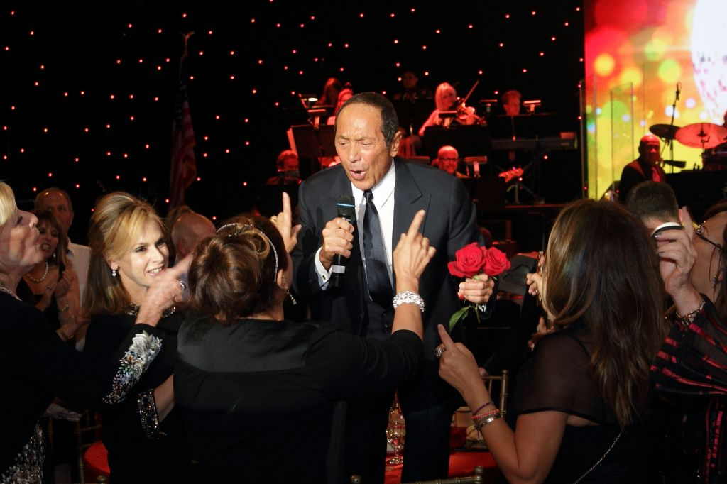 Paul Anka wows the crowd at the star-studded American Friends of Magen David Adom gala. (Orly Halevy)