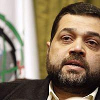 Hamas official Osama Hamdan (AP/Bilal Hussein)