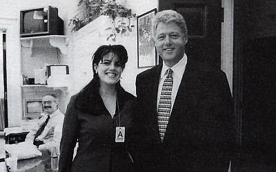 This Official White House photo taken Nov. 17, 1995, from page 3179 of Independent Counsel Kenneth Starr's report on President Clinton, showing President Clinton and Monica Lewinsky at the White House. (Photo credit: AP /OIC)