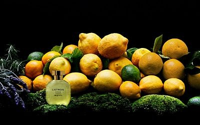 Jewish Mexican Carlos Huber's Arquiste perfume line presents L'Etrog Acqua. (courtesy)