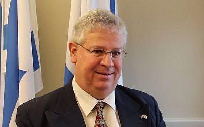 Israeli Ambassador to Sweden Isaac Bachman. (photo credit: YouTube/Israels Ambassad)