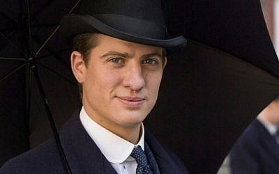 Jewish 'Downton Abbey' character Atticus Aldridge, played by Matt Barber. (Courtesy of ITV)