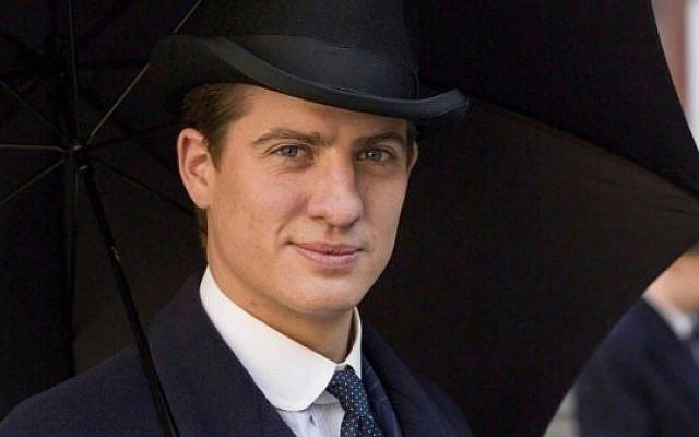 Jewish 'Downton Abbey' character Atticus Aldridge, played by Matt Barber. (Courtesy of ITV)