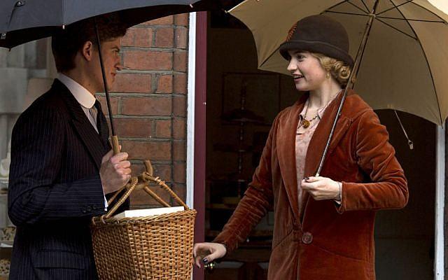 Atticus Aldridge (Matt Barber) meets Lady Rose MacClare (Lily James) in 'Downton Abbey.' (Courtesy of ITV)