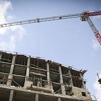 Illustration: A housing construction site. (Hadas Parush/Flash 90)