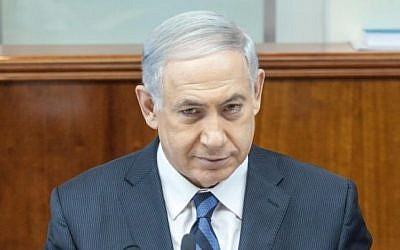 Prime Minister Benjamin Netanyahu, September 21, 2014. (photo credit: Emil Salman/FLASH90)