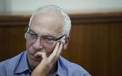 Housing and Construction Minister Uri Ariel in Jerusalem on September 22, 2014. (photo credit: Yonatan Sindel/Flash90)