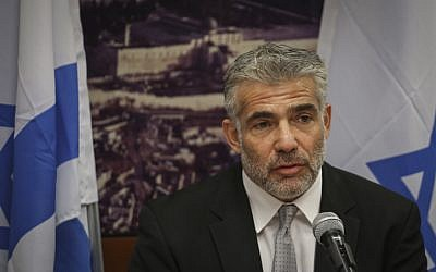 Finance Minister Yair Lapid, October 20, 2014 (photo credit: Hadas Parush/Flash90)