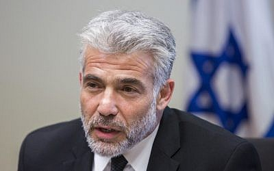 Finance Minister Yair Lapid at the Knesset, October 27, 2014. (photo credit: Yonatan Sindel/Flash90)